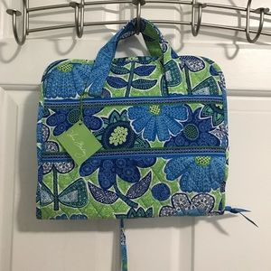 Vera Bradley Blue/Green Flower Travel Caddy Bag